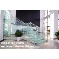 現代簡約全玻璃樓梯 懸挑玻璃樓梯定制廠家