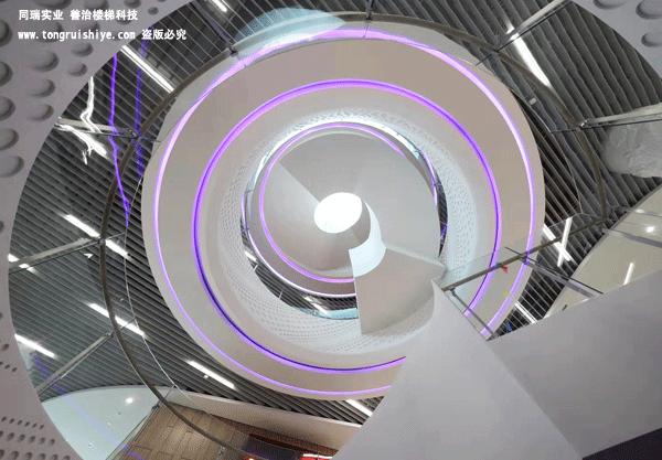 大型商業場所 鋼結構旋轉樓梯定制廠家