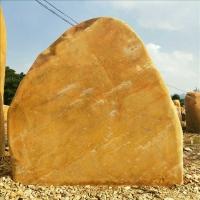 石場出售大量自然黃蠟刻字石 校園門口石校訓石