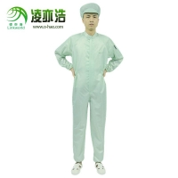 深圳凌亦浩防静电服 0.5条纹立领连体服 无尘室连体工作服