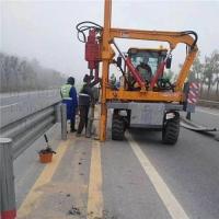 護欄打樁機 鏟車改裝打樁機 鉆打拔一體機
