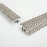 佛山铝合金冷色地板修边条,浅灰色地板压边收口条