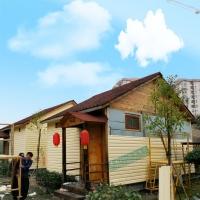 景观小木屋外墙装饰筠尚pvc挂板塑扣板多少钱一平方