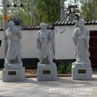 八仙过海 石雕人物像