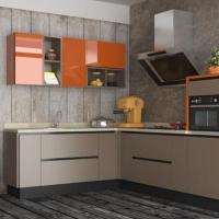 欧派整体橱柜定制l型厨房装修现代简约石英石台面秋林晚枫