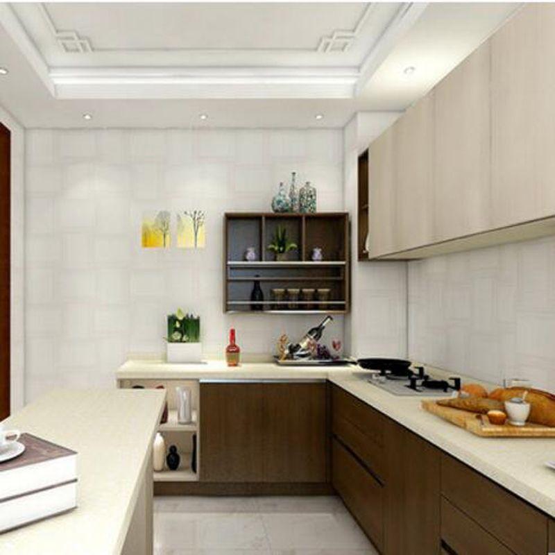 咖啡时光开放式厨房装修石英石台面产品图片,欧派整体橱柜定做现