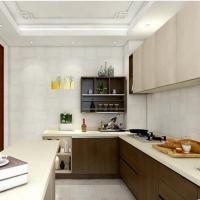欧派整体橱柜定做现代时尚咖啡时光开放式厨房装修石英石台面