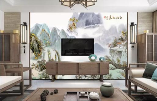金雕系列电视墙画w-101