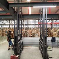 四川省导轨液压式升降平台壁挂式升降货梯加工厂免费上门测量现场