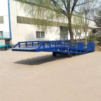 河南省移动式登车桥 液压装平台 加工厂免费上门测量现场