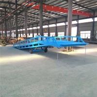 河南省叉车过桥装卸平台调节板加工厂免费上门测量现场