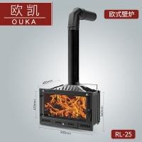 歐琳凱薩RL-25壁爐真火家用燃木柴煤塊爐室內客廳