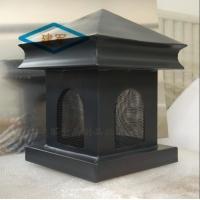 楼房烟囱排烟口彩铝成品烟囱帽铝合金烟囱帽通风帽款式