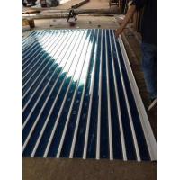 香港广视电动水晶门定做 大宽片15公分双铝条水晶闸供应
