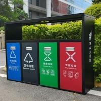 镀锌环卫分类果皮箱 户外不锈钢四分类垃圾桶