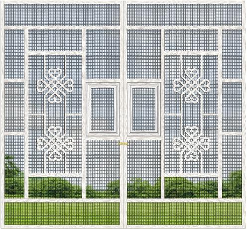 伊登铝艺窗花,别墅大门,纱窗纱门,护栏等铝艺
