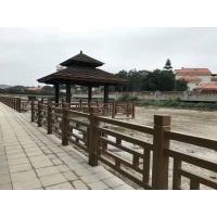 仿木护栏混凝土仿木栏杆河北厂家河道栏杆水泥栏杆