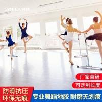 舞蹈房专用pvc塑胶地板专业无划痕耐磨舞蹈教室幼儿园防滑地胶
