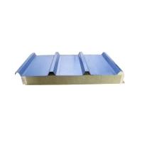 沈阳中海A级防火新型岩棉墙板,聚氨酯封边玻璃丝棉复合板