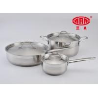 广东三A厨具品牌不锈钢锅五件套