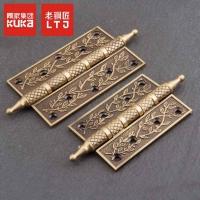 老铜匠纯铜轴承合页欧式中式卧室门雕花全铜折页加厚4寸5寸平开