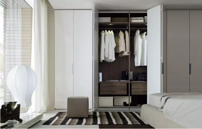 翰诺威定制衣柜整体步入式衣帽间全屋定制家具北欧折叠门衣柜定做