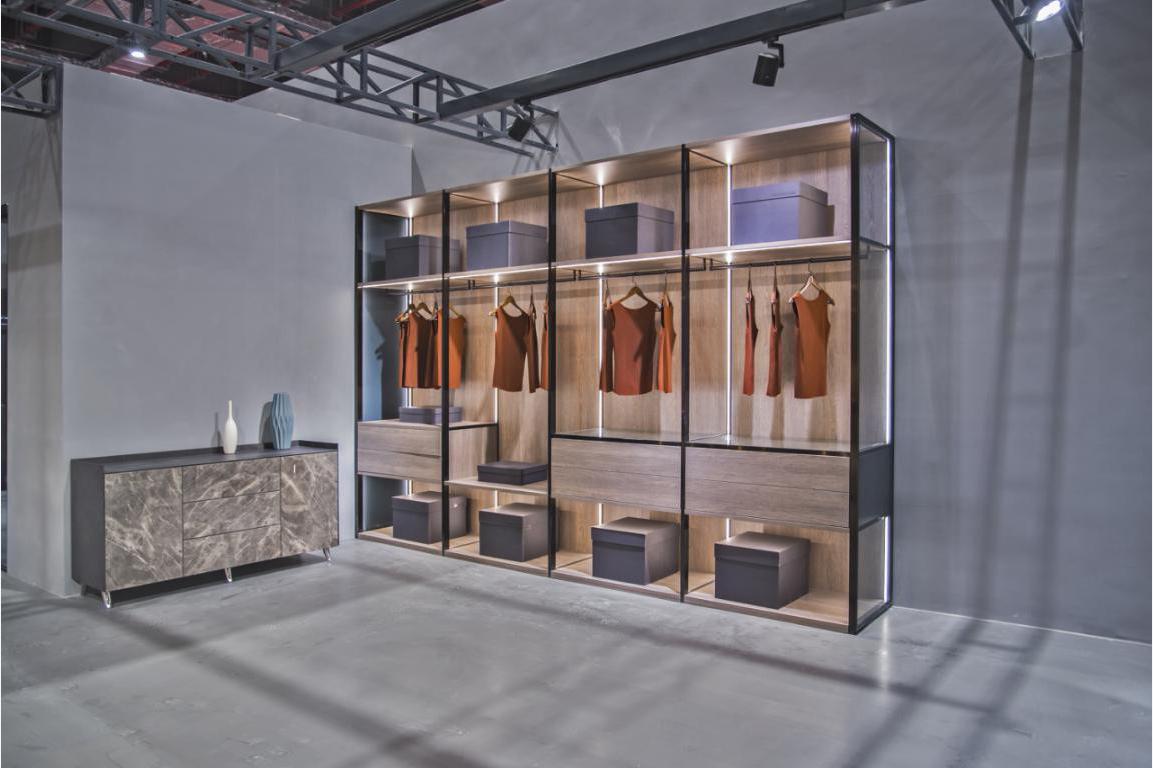 翰诺威设计新元素玻璃衣柜,生活就应该一目了然!