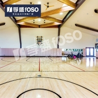 篮球馆实木防滑耐磨地板体育馆羽毛球馆实木运动地板
