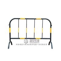 黃黑鐵馬護欄可移動防撞圍欄 河南超安 市政道路隔離欄