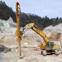 西安挖改鉆機  工地現場  礦山開采  挖改鉆  鑿巖機