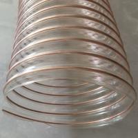 吴中pu耐高温钢丝管A耐腐蚀排热气透明伸缩管