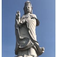 惠安石雕滴水观音 花岗岩三面观音大型观音寺庙供奉