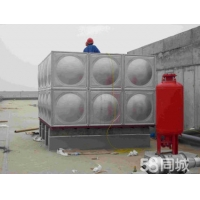 百色平果304不锈钢水箱消防水塔工程方形水箱专业制作安装