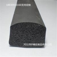 橡膠條硅膠條 黑色硅膠耐高溫硅膠發泡海綿密封條