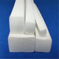 白色硅胶发泡密封条支持大量定做
