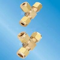 黄铜卡套式三通接头喷雾设备专用接头