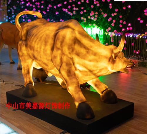牛年造型灯,牛造型发光灯,节日装饰灯