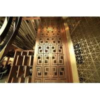佛山厂定制 仿古铜不锈钢屏风 酒店大堂屏风 玫瑰金屏风