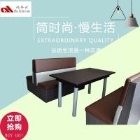 广州达芬批发定制西餐厅卡座沙发 工业风沙发桌椅