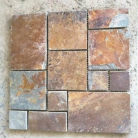 天然文化石 锈色板岩 黄锈色文化石 锈色地板石 精品锈石板