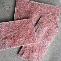 红色文化石新款红水晶蘑菇石 粉水晶蘑菇石 芙蓉红蘑菇石墙砖