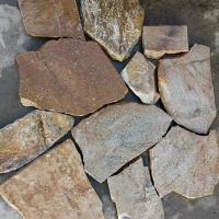 板岩碎拼-黄木纹碎拼石-板岩页岩片碎拼图片