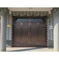 步丹铜门四开大门不锈钢门别墅庭院大门