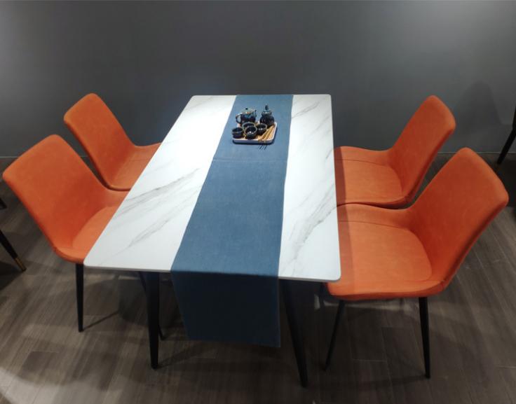北欧现代简约岩板餐桌台面