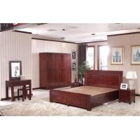 泰安木言木语中式实木双人床 现代简约中式储物双人床