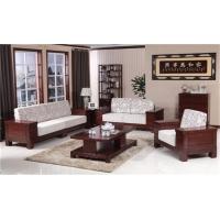 济南木言木语高档实木沙发 环保养生实木沙发组合套装