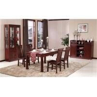 淄博木言木语餐厅中式高档实木餐桌椅 长餐桌