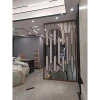 客厅装饰不锈钢屏风玄关金属格栅