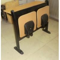 河北勝芳中間回彈排椅,后背鐵網教室排椅,勝芳連體課桌椅
