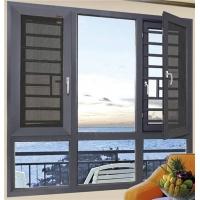 桂林建丰铝合金门窗厂家批发100系列断桥窗纱一体平开窗